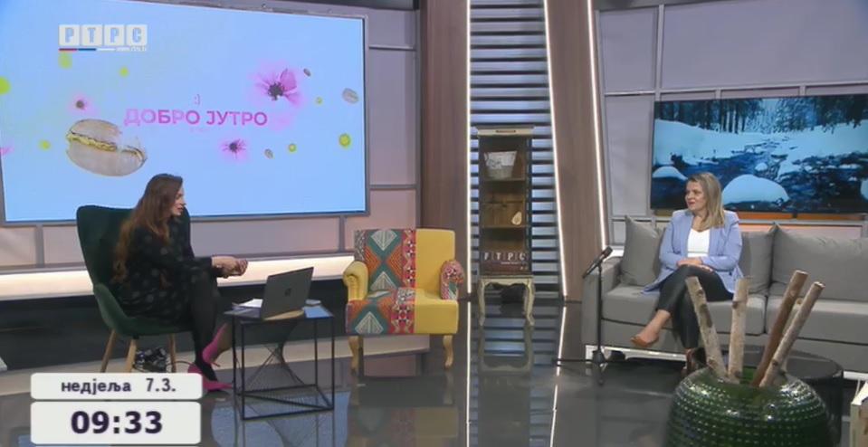 Gostovanje na RTRS televiziji - prof. Dragana Purković-Macan