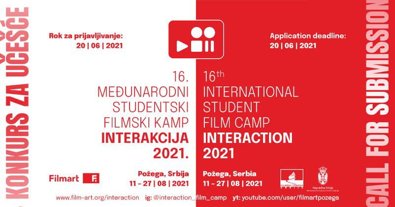 16. Међународни студентски филмски камп ИНТЕРАKЦИЈА 2021