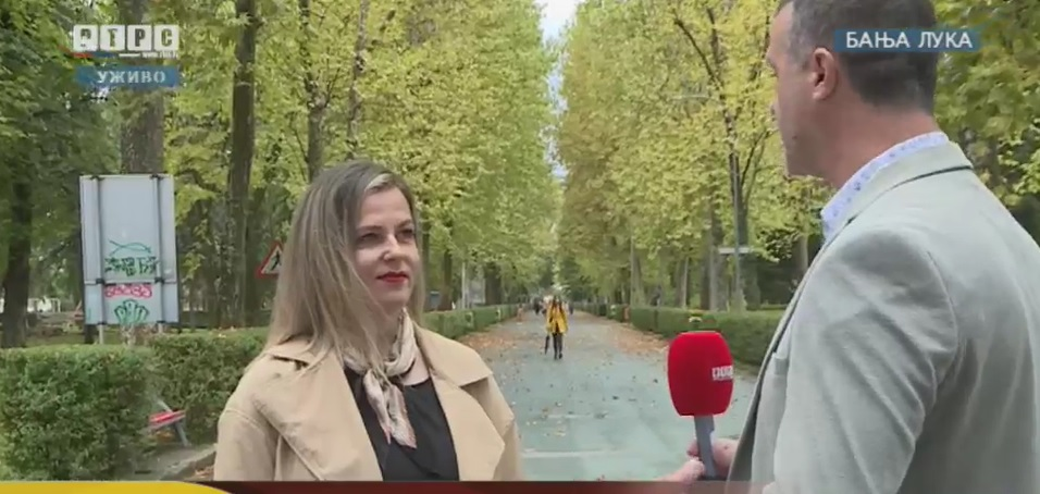 Gostovanje na RTRS televiziji - prof. Dragana Purković-Macan, MA